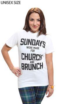 Church And Brunch Unisex Tee