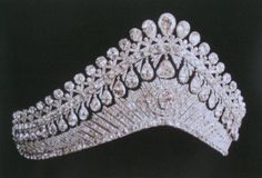 IMPERIAL RUSSIAN TIARA OF EMPRESS ALEXANDRA~ Tsarina Alexandra Feodorovna of Russia (Empress Alexandra) ~ The Diamond Tiara worn by Alexandra and made for the wife of Alexander I the Empress Elizabeth Alexeievna (Louise of Baden) who was herself a cousin of Alexandra through the house of Hesse.