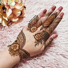 Rose Mehndi Designs, Basic Mehndi Designs, Finger Henna Designs, Latest Bridal Mehndi Designs, Mehndi Designs For Beginners, Mehndi Designs For Girls, Mehndi Design Photos, Mehndi Designs For Fingers, Dulhan Mehndi Designs