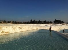 Hierapolis-Pamukkale / travertine terraces 2