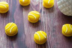 Des macarons déguisés en balle de tennis pour Rolland Garros!