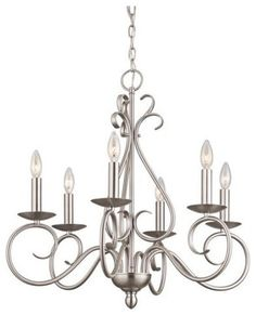 Kichler Norwich 1713NI Chandelier - 25 in. - Brushed Nickel traditional chandeliers