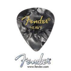 Fender 351 Shape Premium Picks - 12 Pack - Black Moto - Heavy