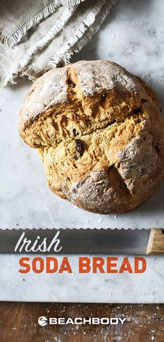 This Irish Soda Bread recipe is delicious and takes just 40 minutes to make at home. Check out the full recipe. irish soda bread recipes // healthy bread recipes // whole wheat bread recipe // whole grain recipe // best recipes for bread // healthy carb r Healthy Bread Recipes, Allergy Free Recipes, Healthy Desserts, Snack Recipes, Healthy Meals, Vegetarian Recipes, Healthy Food, Healthy Eating, Snacks