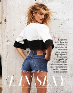 Tan Sexy – Candice Swanepoel poses for Mariano Vivanco once again in the April cover story of Vogue Spain. The South African beauty is retro glam in nineties inspired looks styled by Fashion Editor Belén Antolín. Candice Swanepoel, High Fashion, Fashion Beauty, Womens Fashion, Shorts Vintage, Modelos Victoria Secret, Jeans Boyfriend, African Models, Vogue Spain