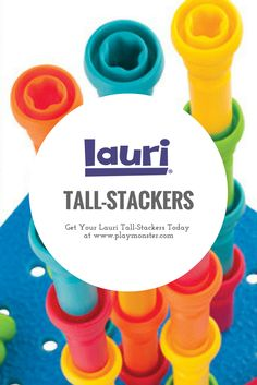 Lauri Tall Stackers help your toddler improve their fine motor skills with activities like pegging, stacking, balancing, geoboards, and more! Stacking Toys, Classic Toys, Fine Motor Skills, Fun Learning, Educational Toys, Gift Guide, Activities, Children, Shop
