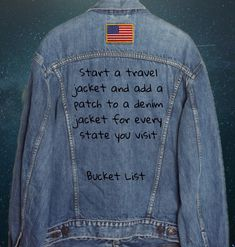 Put the nations' flags on the denim jacket