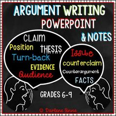 Argumentative / Argument writing becomes easy to teach, with this interactive PowerPoint and guided argumentative notes unit!When I tell my students we're working on an argumentative writing unit, they cheer! Kids LOVE to argue, and when they learn the right way to present their argument, their essays can really pack a punch.Use the PowerPoint show to teach, while your students take notes on the guided notes pages.