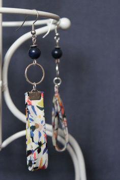 Boucles d'oreilles liberty et Lapis lazuli