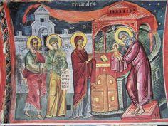 Teofan Cretanul – icoana Byzantine Icons, Fresco, Scene, Painting, Temple, Jesus Christ, Life, Fresh, Painting Art