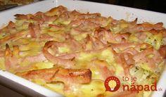Potrebujeme: 1 ks karfiol 1 strúčik cesnak 2 lyžice maslo 2 lyžice nasakaná petržlenová vňať 250 g šunka 3 ks vajcia 100 ml mlieka 100 g tavený syr (Karička, veselá krava, …) 100 g gouda syr korenie soľ muškátový oriešok Postup: Karfiol si uvaríme v osolenej vode do polomäkka. Rúru si rozohrejeme na 200 stupňov,...