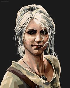 Tom Furber Illustration — Ciri from The Witcher 3 - by Tom Furber