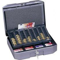 Durable Geldzahlkassette mit entnehbaren Zählbrett✔ Tragegriff ✔ Zylinderschloss ✔ einfaches Sortieren und Zählen ✔