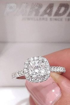 78 The Best Engagement Rings For Women In 2021 ❤ engagement rings for women diamond white gold pave band halo #weddingforward #wedding #bride Most Popular Engagement Rings, Big Engagement Rings, Celebrity Engagement Rings, Antique Engagement Rings, Solitaire Engagement, Dream Ring, Wedding Ring Bands, White Gold, Christopher Wilson