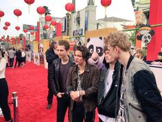 """""""The Vamps Kung Fu Fighting music video is released next week! Go see Kung Fu Panda 3 in theatres January 29th... The Vamps might be the voices of some characters."""""""