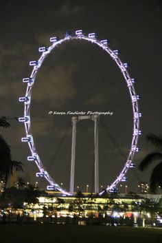 Night Photography: Singapore Flyer, Singapore by Karen Findlater Photography