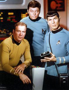 Star Trek Trio: William Shatner, DeForest Kelley, Leonard Nimoy. (Photo: Photofest)
