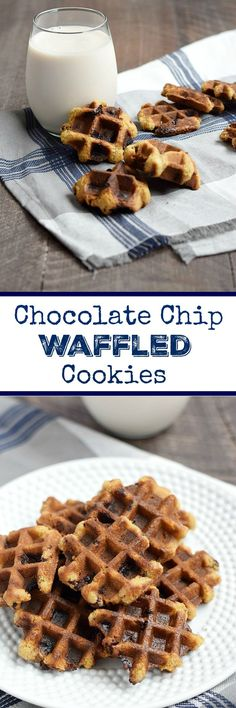 These Chocolate Chip Waffled Cookies are a fun treat that can be made without an oven anytime of the year | cookingwithcurls.com