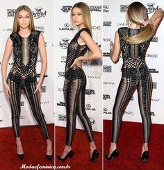 Macacão Gigi Hadid no evento Sports Illustrated 2016