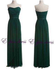 Dark+green+prom+dress+long+prom+dress+fashion+prom+by+epindress,+$88.00