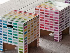 Karton stools, made from super strong cardboard