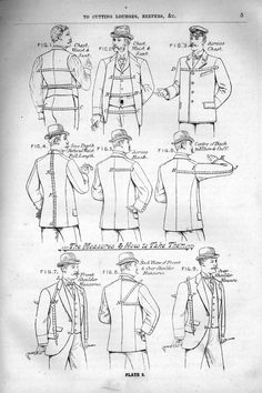 Click this image to show the full-size version. Sewing Men, Sewing Pants, Suit Pattern, Jacket Pattern, 1920s Suits, Clothing Patterns, Sewing Patterns, Pattern Drafting Tutorials, Pattern Draping