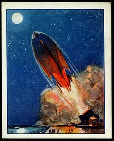 Tradecard - Rocket to the Moon