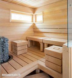 Saunasuunnitelmia - P. Saunas, Sauna Design, Sauna Room, Spa Rooms, Dream Rooms, Future House, Backyard, Storage, Interior