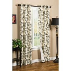 """I'm kind of in love with these for my bedroom. Thermalogic Weathermate Plymouth Paisley Curtains - 80x84"""", Grommet-Top, Insulated"""