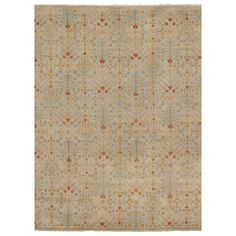 Surya Castle Gray & Rust Orange Hand Knotted Wool Rug #laylagrayce