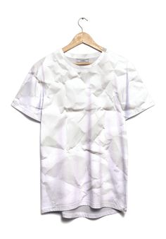 austeja T-Shirt WRINKLED #JVGBD #clothing #clothes #fashion #wrinkled #paper #old #white #shadow #minimal #texture #material