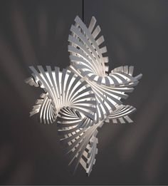 """Complex Geometric Lamp Designs Produced with 3D Printing by Bathsheba Grossman. Much of her work is about """"exploring the region between art & mathematics."""" Grossman says it is about """"life in 3 dimensions: working with symmetry & balance, getting from the origin to infinity, & always finding beauty in geometry."""" / Bathsheba Sculpture"""