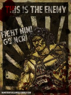 NCR Propaganda Poster Fallout Art, Post Apocalyptic, Travel Posters, Apocalypse, World, Nerdy, Video Games, Gaming, Ads