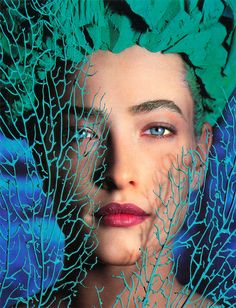 Supermodel Tatjana Patitz photo by Herb Ritts for UK Cosmopolitan, April 1989