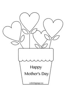 Give mom a special homemade card with My Teaching Station Mother's Day coloring printable page. Mothers Day Coloring Sheets, Heart Coloring Pages, Cute Kids Crafts, Mothers Day Crafts For Kids, Mothers Day Quotes, Happy Mothers Day, Mother's Day Theme, Mother's Day Activities, Happy Mother's Day Card