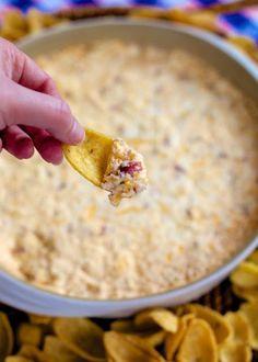 """Warm """"Crack"""" Dip - warm cheesy, ranch, bacony goodness."""