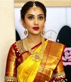 #saree #designersarees #jewelry #traditionaljewellery #silksaree #southindianjewellery #uniquejewelry #uniquesareecollections #uniquebride…