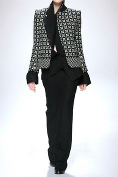 HAIDER ACKERMANN Wool-blend tweed blazer