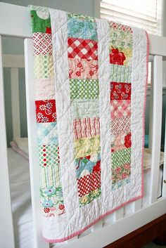 Baby Greta's Swell quilt by Cara {Me? A Mom?}, via Flickr