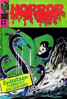 Cover for Horror series) Horror Comics, Dc Comics, The Spectre, Monster 2, Superhero Characters, Comics Story, Classic Comics, Occult, Robots