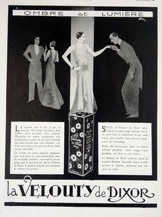 Make up cosmetics by La Velouty De Dixor vintage poster. 1930   Etsy