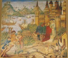 A miniature that represents the Scuola Medica Salernitana  of a copy of the Avicenna Canons.