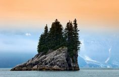 Small rock-island at Kenai Fjord National park, Alaska.We just spent two weeks there with Whales,bears,bald eagles and great landsacapes!
