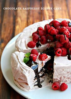 Chocolate Raspberry Icebox Cake