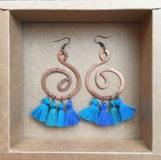 ramini, orecchini fatti a mano in rame battuto. www.raminishop.com