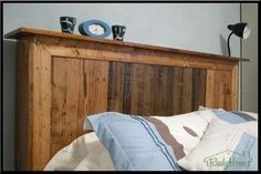 Headboard Made From Pallets | pallet headboard by Ready Home that is fit to be an heirloom.