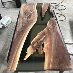 More progress pics of the resin river table. #design #industrial #mnmade #metal #metalfab #woodandsteel #woodandmetal #woodwork #wood #woodworking #handcrafted #customdesign #metalfab #metalwork #customfurniture #minnesota #minneapolis #water #nofilter #modern #rustic #reclaimed #resin #mississippiriver #river #walnut #coffeetable #festool #festoolme #rivertable #nofilter
