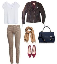 Blouse Mango Trousers, jacket , scarf H&M Bag Michael Kors Shoes  Zara  http://personalstylist.pl/