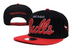 NBA Chicago Bulls Snapback Hats Caps Reds Black 2312! Only $8.90USD
