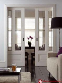 Interieurideeën | ensuite deuren, ook mooie vloer Door carlawelke
